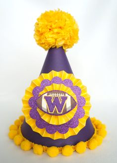 Football Party Hat UW