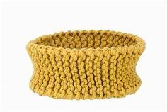 Knitted Basket medium yellow - fern living