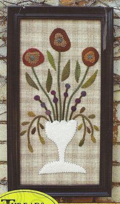 Primitive Folk Art Wool Applique Pattern: VINTAGE FAIR