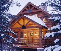mountains, winter, country cabins, cabin christmas, logs