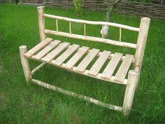 Оригинальная садовая скамейка своими руками