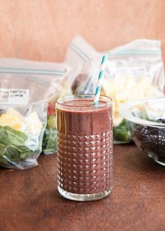 Make A Month of Green Smoothies in an Hour