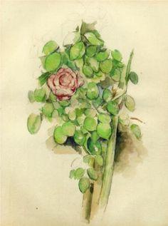 Rose Bush - Paul Cézanne oil paintings, watercolor paintings, paul cezanne, flower paintings, art, roses, rose bush, paul klee, flowers
