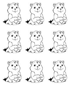 FREE Groundhog Day Art