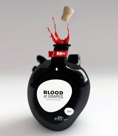 Blood of Grapes, Wine Bottles Shaped Like the Human Heart