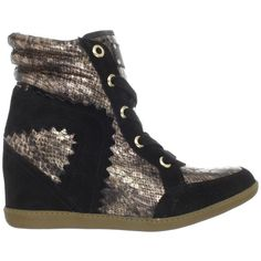 Madison Harding Kenneth High-top Wedge Sneaker ($328) ❤ liked on Polyvore