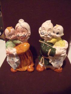 grandma and grandpa ceramic bank