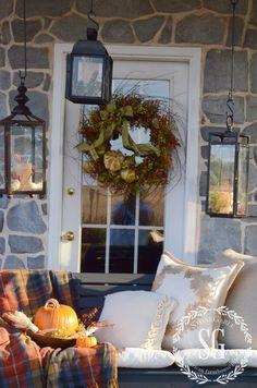 FALL BACK PORCH- swing-wreath-stonegableblog.com