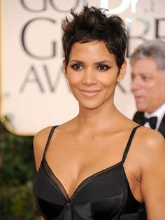 Halle Berry's cropped cut always looks sexy