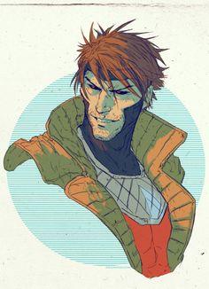 Gambit pin-up art by Dave Rapoza