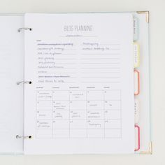 blog planning printable.
