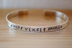 amor vincit omnia bracelet - Simpli Stamped