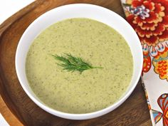 Creamy Broccoli Tahini Soup