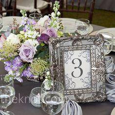 Silver reception table
