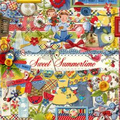 A sweet summertime themed scrapbook kit from Raspberry Road Designs.