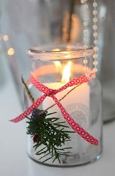 Simple Christmas Candle