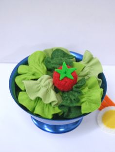 Wool Felt Play Food - Dinner Salad. $30.00, via Etsy.