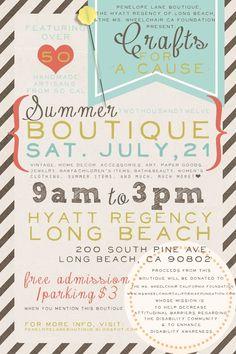Cute invitation design