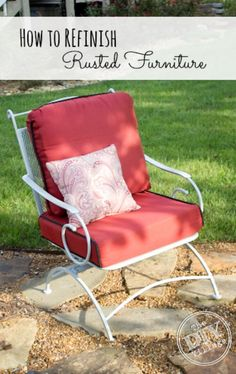 How to Re-finish Rusted Patio Furniture