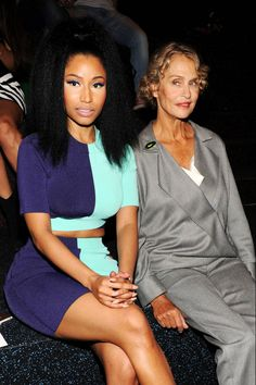 Nicki Minaj and Lauren Hutton. See all the chic celebrities and fashion insiders sitting front row at New York Fashion Week: