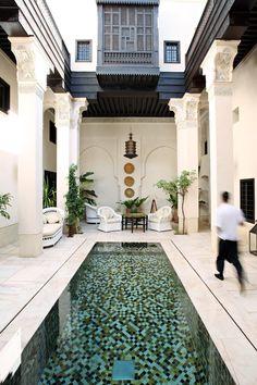 pool interior courtyard