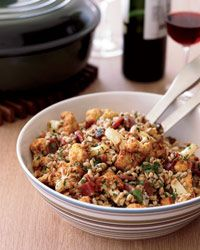 farro salad + fried cauliflower + prosciutto (used quinoa, roasted cauliflower, and added apricots and pistachios)
