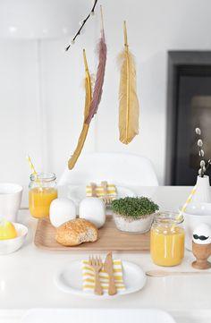 easter breakfast tabletop // simple!