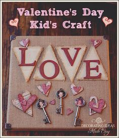 Valentines Day Crafts for Kids - Easy wall art project your kid's will love because they use their own photo!