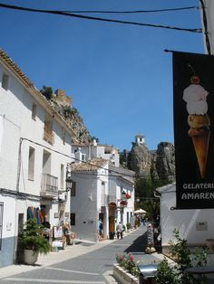A street in the village of Guadalest, Spain