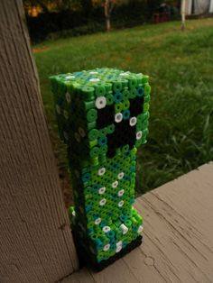 3D Perler Minecraft Creeper
