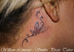Behind the Ear Tattoo