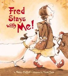 A child describes how she lives sometimes with his mother and sometimes with his father, but his dog is his constant companion. mother, dog theme, fred stay, divorc, children book, father