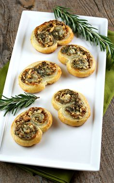 Stilton and Walnut Palmiers Authentic Suburban Gourmet: Appetizer