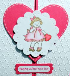 """SU! """"Fancy Fold"""" card that opens in the middle.  Greeting Card Kids stamp set in Melon Mambo, Soft Suede and Real Red - Ann Marie Bryant"""
