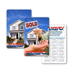 Lenticular calendar card with real estate realtor hands sold keys to buyer of house, flip from Lantor, Ltd. Lenticular printing: This 2.125 x 3.375 inch calendar card CA01-971, with its exciting Lenticular flip effect, makes a great real estate-themed promotional product. The calendar card's face features a flip effect of hand with keys appearing in front of a house for sale. See more at: http://www.lenticularpromo.com/Calendar-Card-p/ca01-971.htm#sthash.CNLqLGvx.dpuf