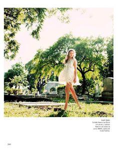 Louis Vuitton dress; Eniko Mihalik for Vogue Spain May 2012