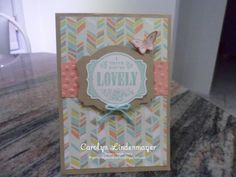 Carolyn's Card Creations: You're Lovely SAB card