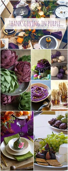 Thanksgiving In Purple | Not Just A Mommy