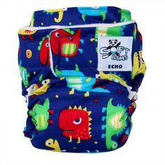 FOR SALE: New Softbums Echo Cloth Diaper in Fluffy Saurus Rex. #clothdiapers