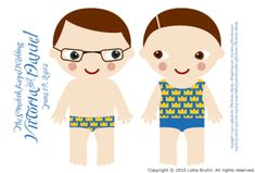 dolls & clothes - print out on magnet sheets and walla!