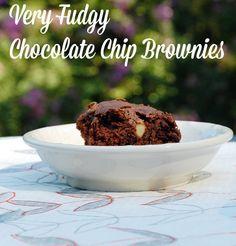 Fran's recipe for Very Fudgy Chocolate Chip Brownies #vegan