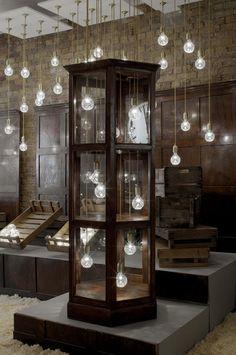 Lee Broom Crystal Bulb Shop display cabinet