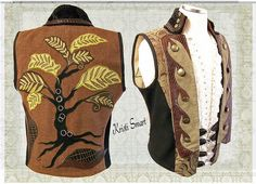 Tree of life waistcoat by Kristi Smart AKA ManicManx