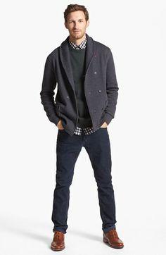 Grayers Cardigan & John Varvatos Star USA Jeans  available at #Nordstrom