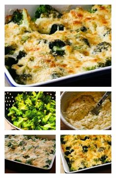 Broccoli Gratin with Swiss and Parmesan (plus 10 More Broccoli Recipes for Thanksgiving).  This Gluten-Free version of broccoli gratin is something I've made over and over for special meals.  [from KalynsKitchen.com] #Easy BroccoliGratin