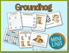 Groundhog Mini Unit from 2 Teaching Mommies