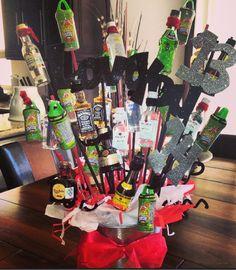 Liquor basket for my boyfriend on valentines day!