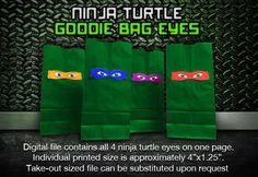 Teenage Mutant Ninja Turtle Goodie Bag Eyes Digital by SFCInvites, $6.00