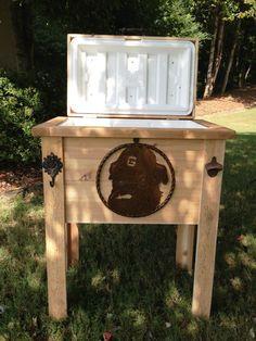 Rustic Cedar Cooler / Ice Chest / Sports Cooler / Outdoor Patio Deck Pool