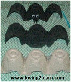 We did this! I snipped the bat wings all different, and used a silver gel pen to colour in the fangs and made a little smile. Just because that's what the boss a.k.a. JD requested!